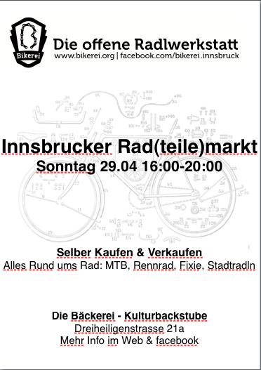 Radlmarkt 29.4 Innsbruck - Flyer